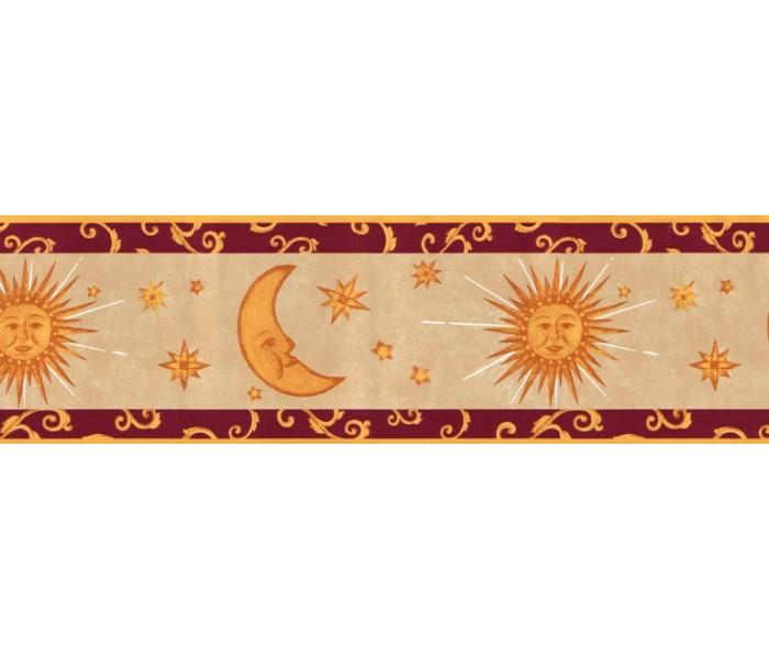 Sun Moon Stars Wall Borders: Sun Moon and Stars Wallpaper Border B95809