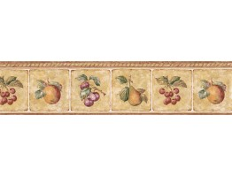 Prepasted Wallpaper Borders - Fruits Wall Paper Border GS96005B