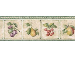 Prepasted Wallpaper Borders - Fruits Wall Paper Border GS96006B