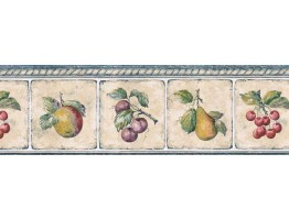 Prepasted Wallpaper Borders - Fruits Wall Paper Border GS96007B