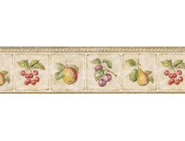 Prepasted Wallpaper Borders - Fruits Wall Paper Border GS96008B