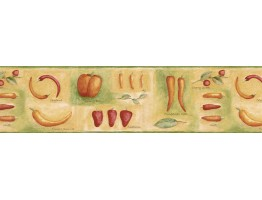 Prepasted Wallpaper Borders - Vegetables Wall Paper Border GS96013B