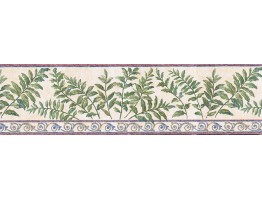 Prepasted Wallpaper Borders - Leafs Wall Paper Border GS96018B