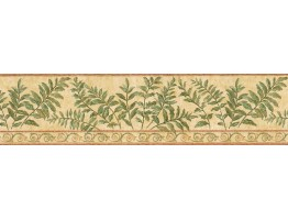 Prepasted Wallpaper Borders - Leafs Wall Paper Border GS96019B