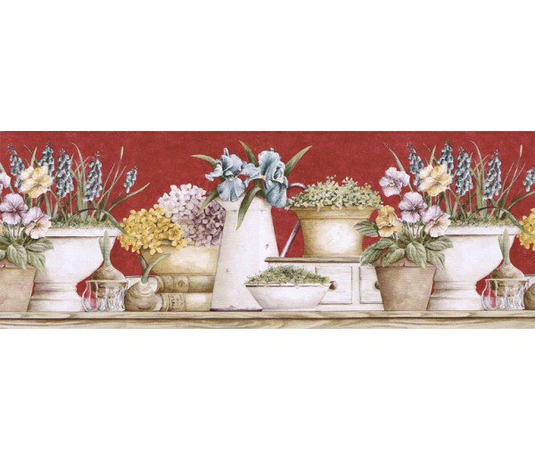 Clearance: Floral Wallpaper Border GS96020B