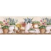 Floral Wallpaper Borders: Floral Wallpaper Border GS96021B
