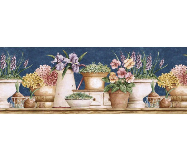 Clearance: Floral Wallpaper Border GS96022B