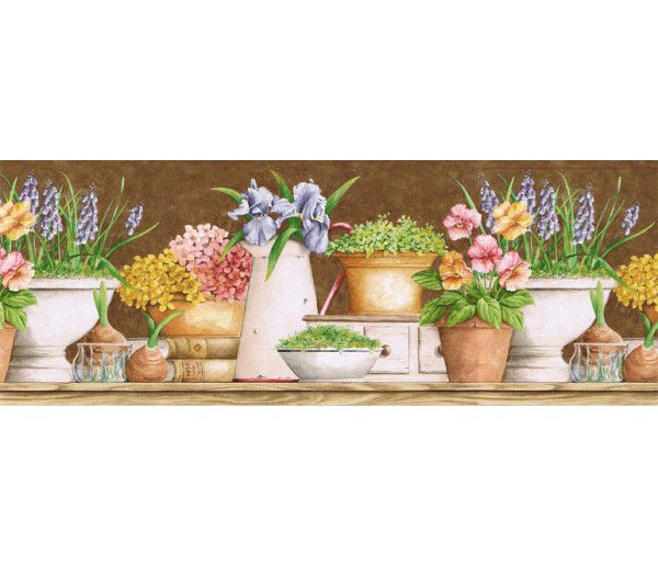 Floral Wallpaper Borders: Floral Wallpaper Border GS96023B