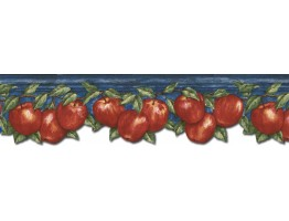 Prepasted Wallpaper Borders - Apple Fruits Wall Paper Border GS96025DB