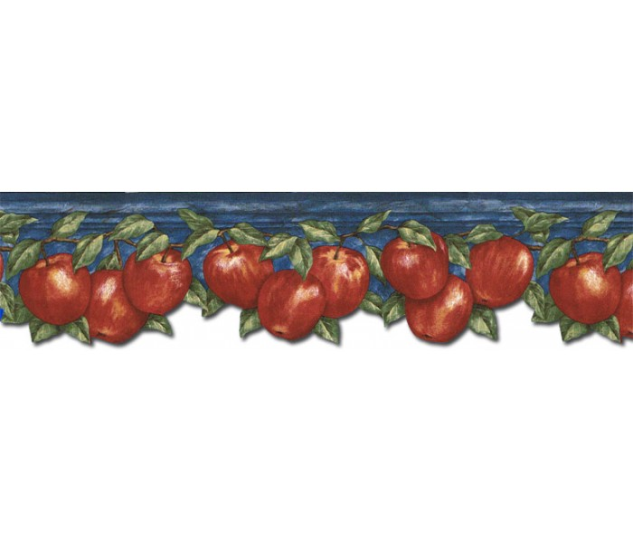 Clearance: Apple Fruits Wallpaper Border GS96025DB