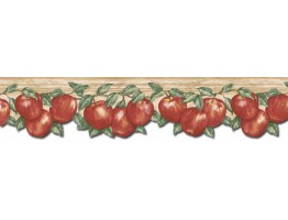 Prepasted Wallpaper Borders - Apple Fruits Wall Paper Border GS96026DB