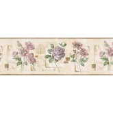 Clearance: Floral Wallpaper Border GS96028B