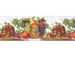 Prepasted Wallpaper Borders - Fruits Wall Paper Border RCH970420