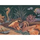 Sea World Borders Aquarium Wallpaper Border b970927RB Mirage Wallcoverings