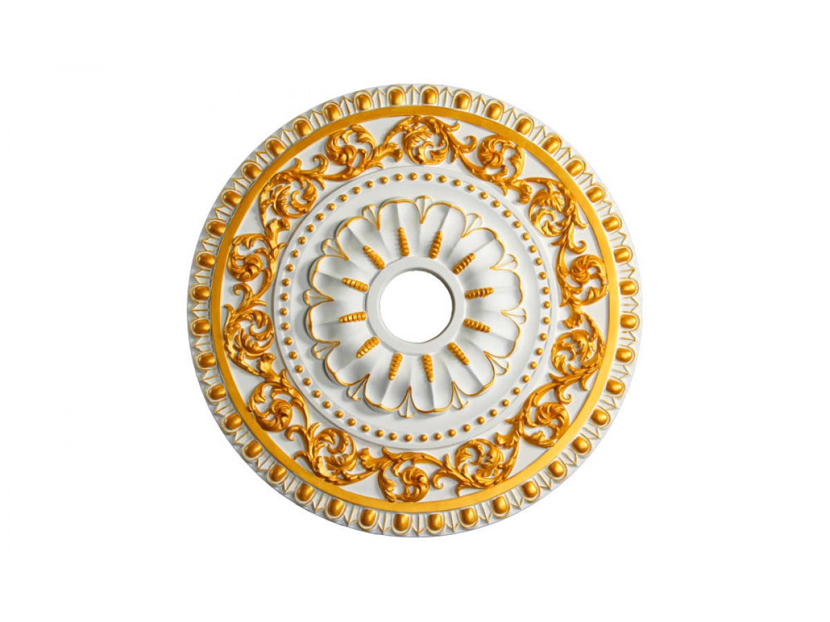 Md 7047 Gold Highlight Ceiling Medallion