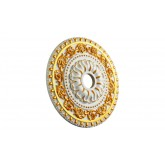 Ceiling Medallions: MD-7047 Gold Highlight Ceiling Medallion