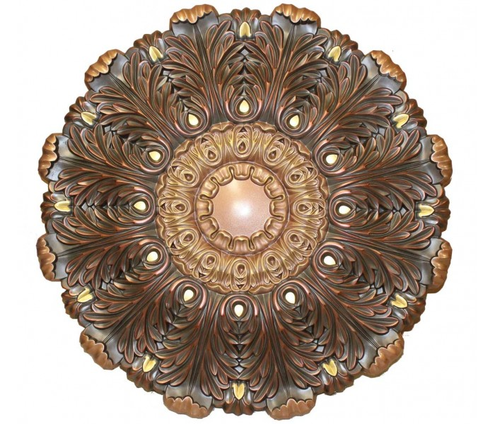 Ceiling Medallions: MD-9101 Oil Rubbed Copper Ceiling Medallion