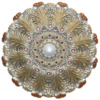 Ceiling Designs  - MD-9101 Fall Pewter Ceiling Medallion