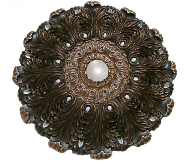 Ceiling Designs  - MD-9101 Oil Rubbed Silver Ceiling Medallion