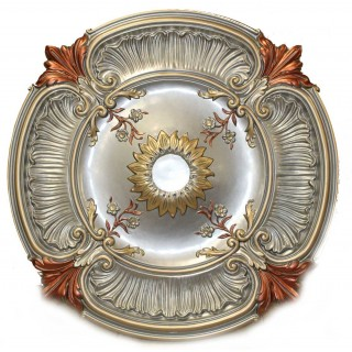 Ceiling Designs  - MD-9114 Fall Pewter Ceiling Medallion