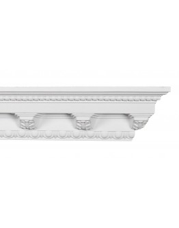 Crown Molding - Plastic Crown Moluding Manufactured with a Dense Architectural Polyurethane Compound. CM-1007 Crown Molding