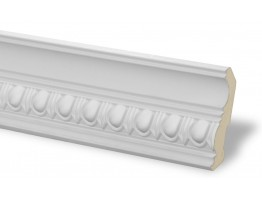 Crown Molding - Plastic Crown Moluding Manufactured with a Dense Architectural Polyurethane Compound. CM-1124 Crown Molding