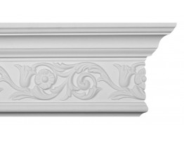 Crown Molding - Plastic Crown Moluding Manufactured with a Dense Architectural Polyurethane Compound. CM-1137 Crown Molding