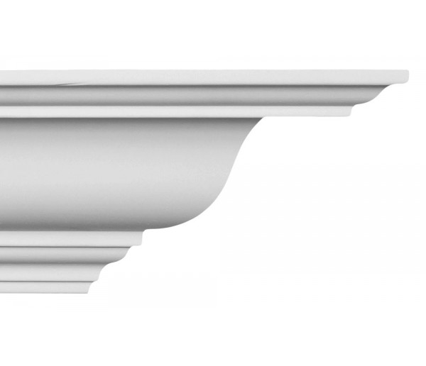 Crown Molding - Plastic Crown Moluding Manufactured with a Dense Architectural Polyurethane Compound. CM-1196 Crown Molding