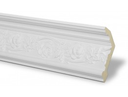 Crown Molding - Plastic Crown Moluding Manufactured with a Dense Architectural Polyurethane Compound. CM-1222 Crown Molding