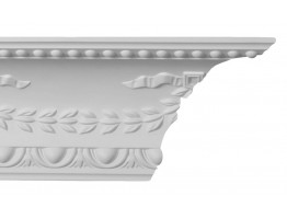 Crown Molding - Plastic Crown Moluding Manufactured with a Dense Architectural Polyurethane Compound. CM-1248 Crown Molding