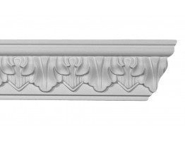 Crown Molding - Plastic Crown Moluding Manufactured with a Dense Architectural Polyurethane Compound. CM-1254 Crown Molding