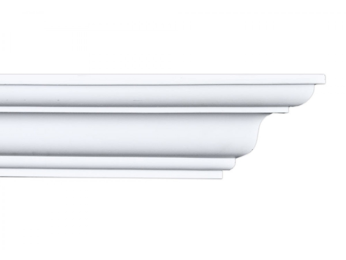Plastic Crown Moulding Manufactured with a Dense Architectural Polyurethane Compound CM-2073-8 Moldings. Crown Molding