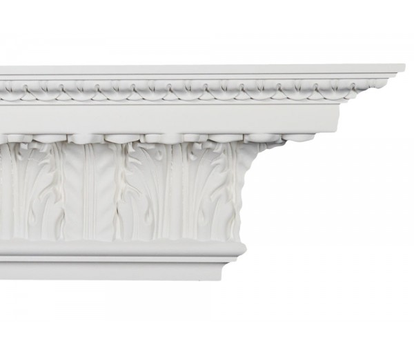 Crown Molding - Plastic Crown Moluding Manufactured with a Dense Architectural Polyurethane Compound. CM-2034 Crown Molding