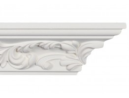 Crown Molding - Plastic Crown Moluding Manufactured with a Dense Architectural Polyurethane Compound. CM-2132 Crown Molding