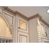 Crown Molding - Plastic Crown Moluding Manufactured with a Dense Architectural Polyurethane Compound. CM-2145 Crown Molding