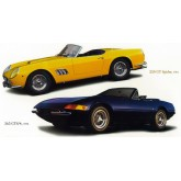 Wall Decals Classic Ferrari Cars Set of Wall Decals