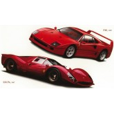 Wall Decals: Classic Ferrari Cars Set of Wall Decals 41