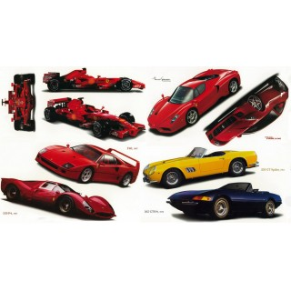 Classic Ferrari Cars Set of Wall Decals 41