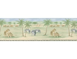 10 3/8 in x 15 ft Prepasted Wallpaper Borders - Animals Wall Paper Border PKB6028