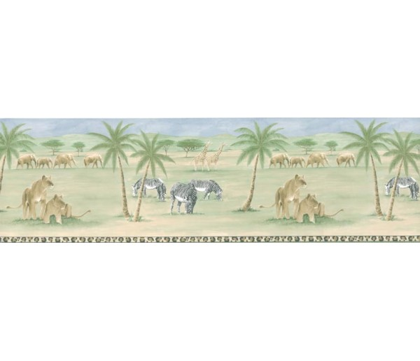 Clearance: Animals Wallpaper Border PKB6028