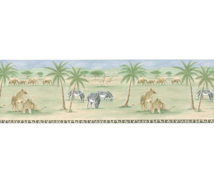 Clearance: Animals Wallpaper Border PKB6028
