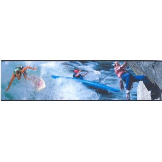 6 in x 15 ft Prepasted Wallpaper Borders - Sports Wall Paper Border SN71139F