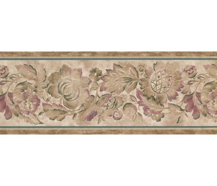Floral Wallpaper Borders: Brown Flower Wallpaper Border