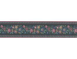 Prepasted Wallpaper Borders - Floral Wall Paper Border 126201