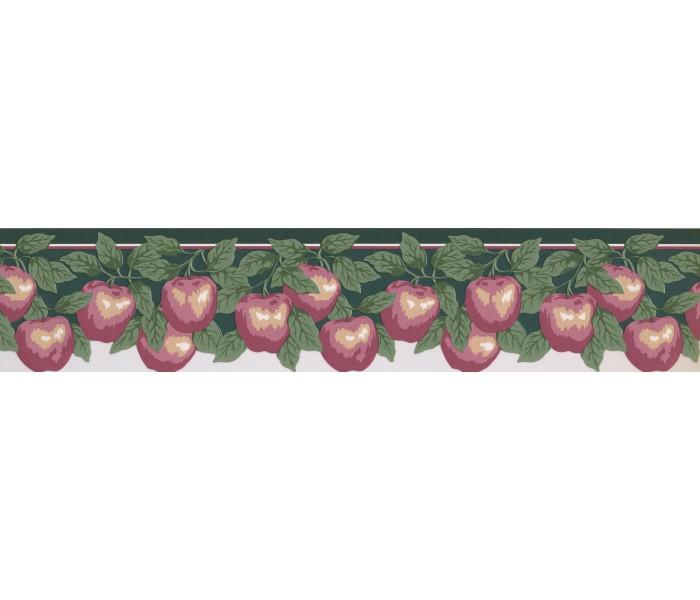 Garden Wallpaper Borders: Pink Apples Wallpaper Border