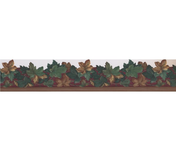 Floral Wallpaper Borders: Brown Scalloped Wallpaper Border