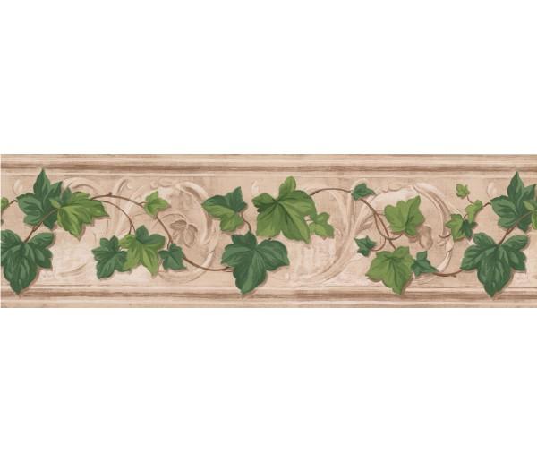 Garden Wallpaper Borders: Fresh Green Leaves Wallpaper Border