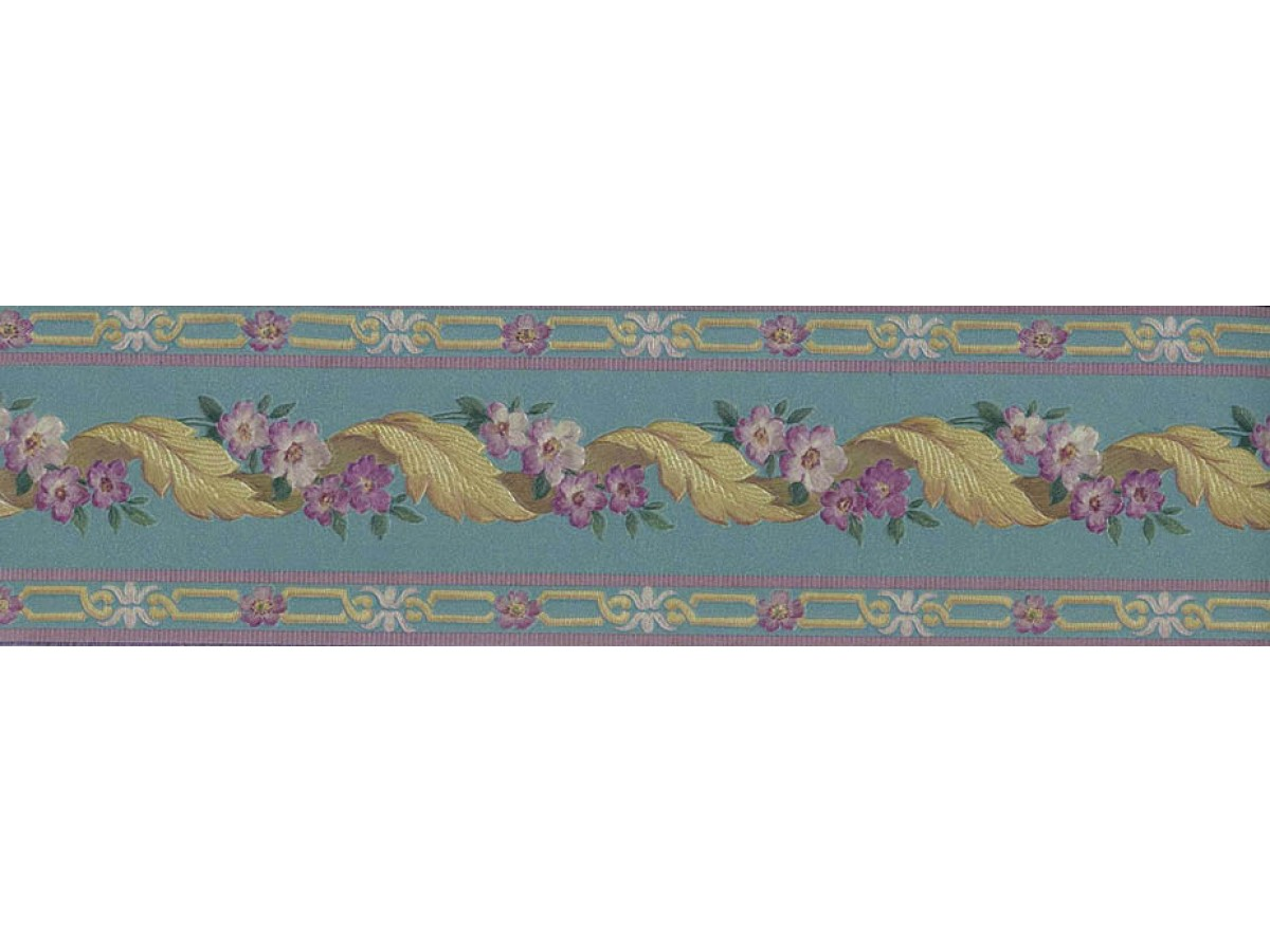Yellow Leaft Floral Wallpaper Border