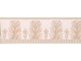 7 in x 15 ft Prepasted Wallpaper Borders - Tan Molding Wall Paper Border
