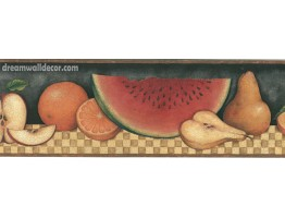 Prepasted Wallpaper Borders - 30902310 Fruit Wall Paper Border
